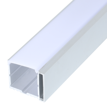 led strip alum profile xc0072  surface mounting on the ceiling or wall, with external driver