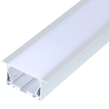 led strip alum profile xc0073  surface mounting on the ceiling or wall, with external driver