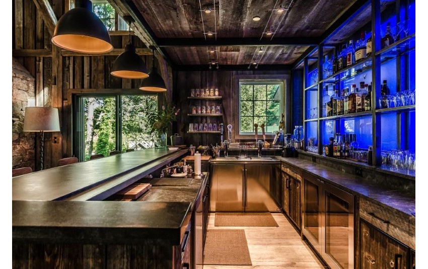 9.Stocked Bar With Adjustable LED Backlightings by Kelly and Co. Design