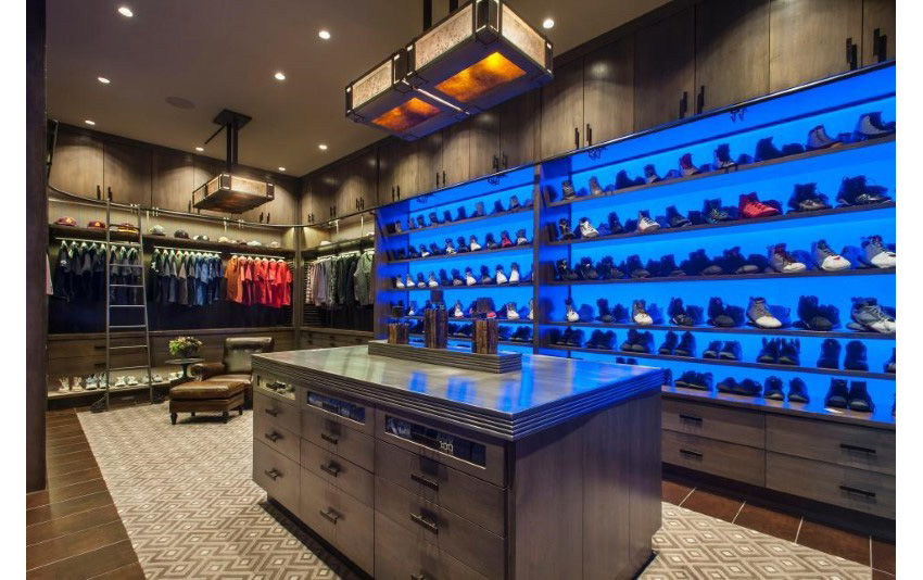 16. Master Closet for Him With LED Panels by Angelica Henry