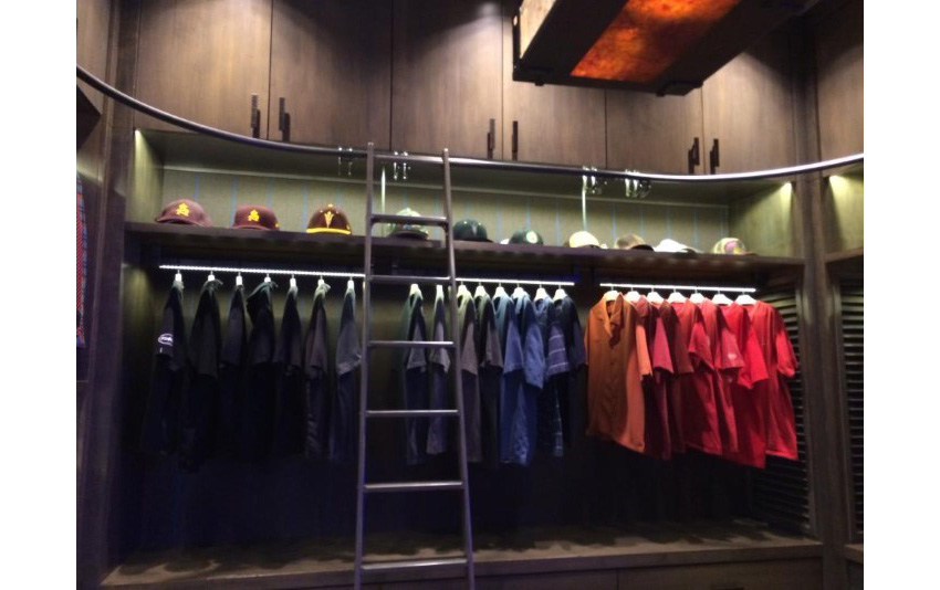 18. Custom LED Lightings Closet Rods in Masculine Gentleman Closet by Agnelica Henry