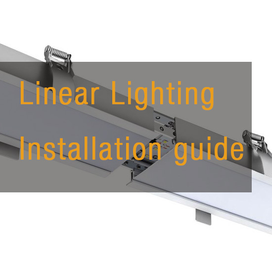 Linear light installation guide