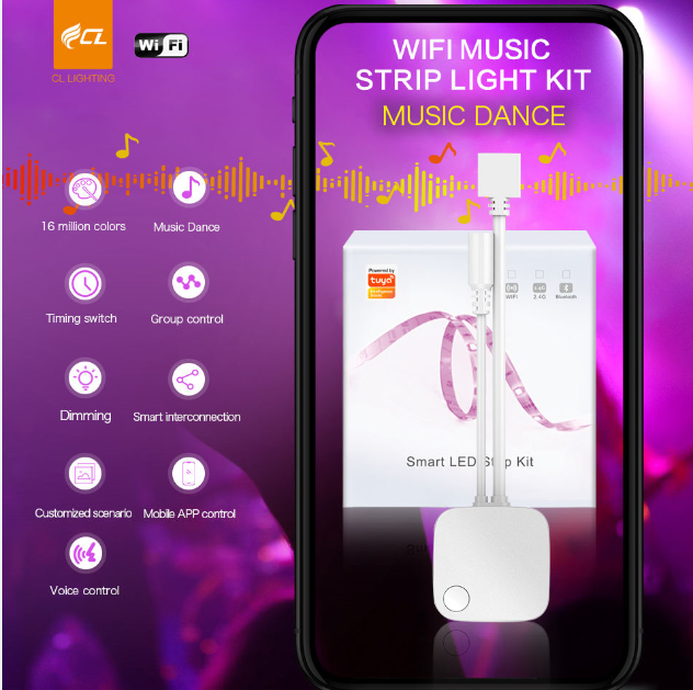 2020 Smart Tuya WIFI+Music Dance LED Strip